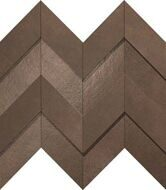 Dwell Brown Leather Chevron 3D 30,8х35,1