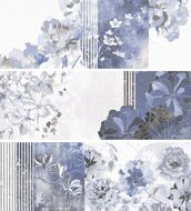 DECOR MILA BLUE (3 pzs mix) 25.3х70.6